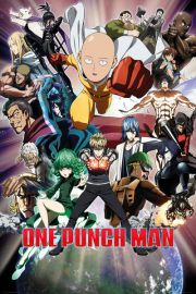 One Punch Man Bohaterowie - plakat