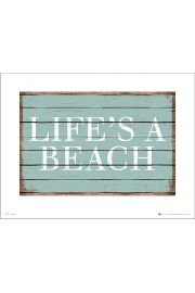 Life is a beach - plakat premium