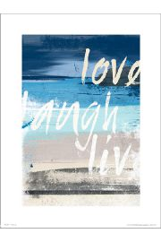 Abstract Beach Love Laugh Live - plakat premium