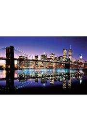Nowy Jork Brooklyn Bridge Colour - plakat