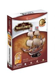 Puzzle 3d zaglowiec mayflower 111el-fun cubic