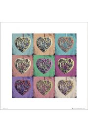 Hearts Pop Art - plakat premium