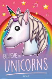 Believe in Unicorns Emoji - plakat