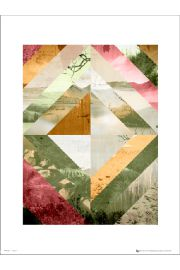 Abstract Wilderness Pink - plakat premium