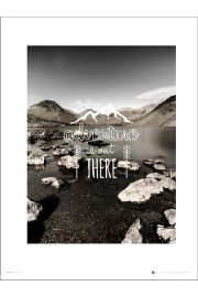 Adventure Out There - plakat premium